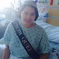 Susy Olvera said she found out classmates named her W.T. White High School's prom queen while in her room at Children's Medical Center of Dallas. Olvera was diagnosed with leukemia this spring.Photo courtesy DALLAS ISD