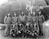 Joe Geary (standing, third from left) flew 50 bombing missions in the liberation of Europe and learned valuable lessons for the legal profession.