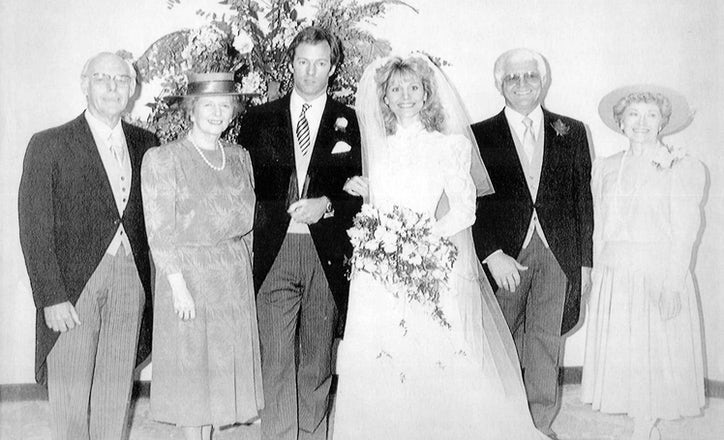 Mark Thatcher Married The Former Diane Burgdorf A Lake Highlands And SMU Alumna On Valentines Day 1987 In London At Left Are Denis Margaret
