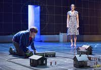 """Alex Sharp and Enid Graham star in """"The Curious Incident of the Dog in the Night-Time,"""" named best play at the Drama League awards.( Sara Krulwich  -  The New York Times )"""