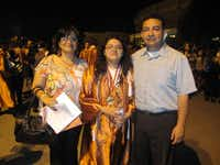 Aaron M. Gonzales and Martha Gonzales celebrate the high school graduation of their youngest daughter, Karen, who is attending the University of Texas at Austin in the electrical engineering program.(Photo submitted by MARTHA GONZALES)