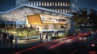 New owners of the high-rise at 400 S. Record, formerly the Belo Building, are remodeling. Plans call for a restaurant overlooking Young Street and facing the Omni Hotel.(Artist Conceptions by Gensler - Gensler)