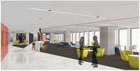 The KPMG Centre second-floor lounge, to equipped with Wi-Fi, is designed to create a sense of community among tenants.(World Class Capital Group)