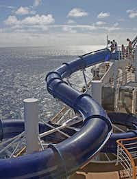 A water slide on the Divina.
