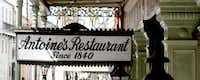 This photo taken Oct. 7, 2009 shows the sign above the entrance to Antoine's Restaurant on St. Louis Street in the French Quarter New Orleans.