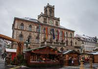 Weimar's Christmas Market in Germany is set up by city hall. (Steve Haggerty/MCT)