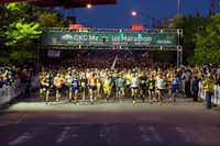 The Oklahoma City Marathon  is one of  Runner's World's  must-run events.(Handout)