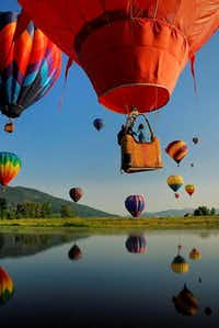 The Hot Air Balloon Rodeo and Art in the Park at Steamboat Springs, Colorado(handout)