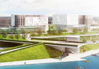 Trinity Trust is raising money for an urban lake near downtown Dallas, which would abut a planned pedestrian overlook at the Trinity River floodplain.