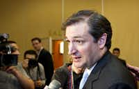 Ted Cruz, with broad tea party support, says he opposes granting any break to people in the U.S. illegally. He granted interviews to conservative radio hosts Wednesday.