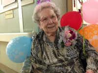 Mesquite resident Thelma Wells celebrated her 100th birthday on Feb. 11.(Photo submitted by HOLLY TITSWORTH)