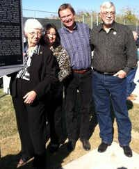 J.D. Tippit's family — (from left) wife Marie, daughter Brenda and sons Curtis and Allan — were photographed at a Nov. 20, 2012, ceremony in Oak Cliff honoring their father.