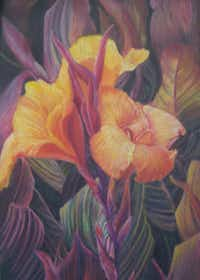 """""""Cana Lilies"""" by Toni WenglerColored Pencil Society of America"""