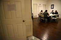 Rabbi Yaakov Rich  leads a study group at a residence on Mumford Court near Frankford Road in Far North Dallas. The Congregation Toras Chaim has been meeting at the home since July.(Rose Baca)