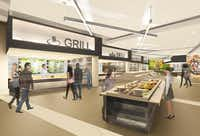 A food station shown in an artist's rendering.( Toyota )