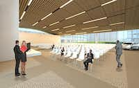 A small auditorium at Toyota's headquarters being built in west Plano.( Toyota )
