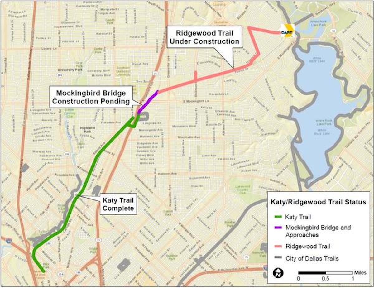 Mockingbird Pedestrian Bridge Trail Connections A Work In