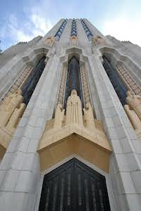 The Boston Avenue United Methodist Church, completed in 1929, is considered an art deco masterpiece for its soaring columns, recurring motif of praying hands and stained-glass windows with a geometric design.( Don Sibley  -  The Associated Press )