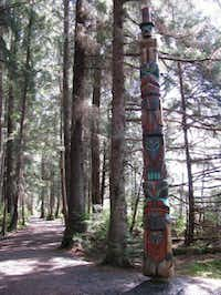 This May 2010 photo shows one of the totems along the history walk at the Sitka National Historical Park in Sitka, Alaska. A must-see in this stunning town is the Sitka National Historical Park. A national monument, it commemorates the 1804 Battle of Sitka between the Tlingit Indians and Russians. Totems _ many of them replicas _ are scattered along the park's two-mile wooded trail.