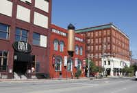 Restaurants in Bricktown, a warehouse district converted to a major entertainment hotspot, are pictured in Oklahoma City, Wednesday, Oct. 9, 2013.