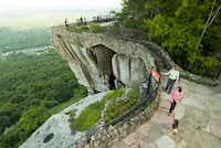 Lover's Leap is one of the well-known scenic spots along Rock City's Enchanted Trail at Lookout Mountain, Ga.