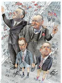 Winston Churchill,   FDR and the Boys (Blair and Bush)  appeared in   Reader's Digest.(Jack Unruh - Jack Unruh)