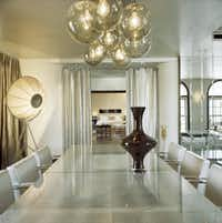 A dining area in the Hollywood Roosevelt Hotel Gable-Lombard penthouse