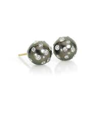 Russell Trusso Tahitian pearl earrings, $1,395, Jerry Szor Contemporary Jewelry