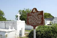 Abbeville, a well-preserved Acadian town with an almost Western feel, we visited the Catholic cemetery.