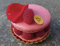 The famed Isaphan macaron at Pierre Hermé