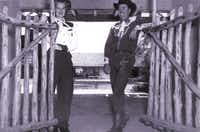 Dorthea and Elmer Seybold at the Mineral Wells ranch they founded in the 1940s