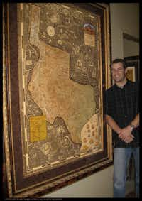 Self-described map nerd Christopher Smith's passion was kindled by his father's hand-drawn military maps.