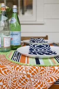 Set a stylish table with Hen House Linen's spring line of mix-and-match table linens. The Fern Orange pattern is an easy way to add the hue of 2012 to your home. The collection starts at $10. T Shop, 1911 Abrams Parkway, Dallas; Uptown Carwash, 2501 North Field St., Dallas; Silks and Twigs, 2050 Stemmons Freeway, Dallas