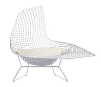 Bertoia Asymmetric Chaise, designed in 1952 for Knoll, $6,187, Design Within Reach, 214-521-0100, dwr.com