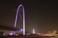 We're not in Dallas anymore: Santiago Calatrava's three-span bridge in Reggio Emilia, Italy, built in 2007, five years ahead of Calatrava's bridge for Dallas.