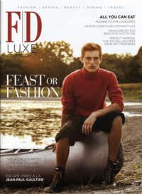 Myles Crosby on the cover of the November 2011 issue of FD Luxe