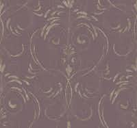 "Cinderella's pumpkin-turned-coach inspired the wallpaper pattern called ""Enchanting"" by York Wallcoverings."