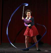 __ Caption: Kids are encouraged to wear green as married clowns Tiffany ÔSlappyÕ Riley and Dick Monday explore the funny side of St. PatrickÕs Day as Showtime Saturdays continues March 17, 2012, at Galleria Dallas. Seen here: Slappy (Tiffany Riley) with rhythmic ribbon. Email: esackett@dallasnews.com Phone: 940-395-1300 OrigName: 1331147257_0959414001331147257_0.jpg Name: slappyribbon.jpg Byline: Brad Newton Submitter: Ellen Sackett Timestamp: 2012-03-07 13:07:37 Section: GUIDE_NG