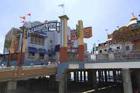 The pier was roaring in the 40s and then was wiped out by Hurricane Carla in the 1960s. The Flagship Hotel then took residence on the pier, but after Hurricane Ike did a number on the area, it was demolished. Right now the Pleasure Pier is built 32 inches over the original pier from the 1940s, says Landry's Regional Director of Theme Parks Mark Kane. Within that 32 inches, lies utility connections and more foundation to support big rides.