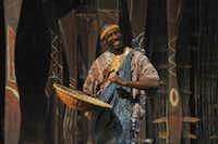 Rick Spivey (as Storyteller)appears in Mufaro's Beautiful Daughters, presented by Dallas Children's Theater.