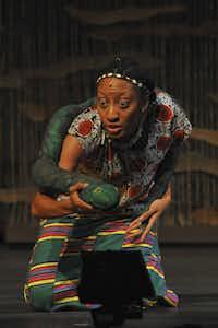 Rhianna Mack (as Nyasha) appears in Mufaro's Beautiful Daughters, presented by Dallas Children's Theater.