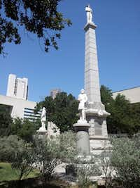 The Confederate Memorial at Pioneer Cemetery in downtown Dallas