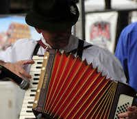 Accordion music is part of the fun at Addison Oktoberfest.