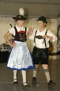 Expect to see dancers in German outfits such as these this weekend at Addison Oktoberfest.
