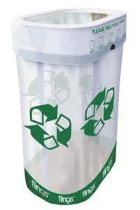 Even picnics and tailgate parties can be occasions for recycling when you bring along Flings Pop-Up Trash &; Recycling Bins.