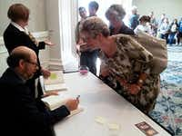 Actor-author Stephen Tobolowsky greets fans at Southern Methodist University on Oct. 3, 2012.