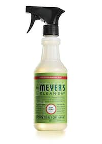 Mrs. Meyers countertop spray that smells like a pine tree.