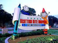 FocusEGD designed the exterior sign for Texas Scottish Rite Hospital for Children.