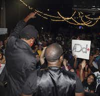 Dallas-based rap duo A.Dd+. From left to right: Slim Gravy and Paris Pershun. 2013.