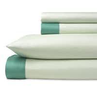 Nap in your own Emerald City in the Pantone Universe 300-thread-count cotton-sateen Seacrest sheets. The set includes flat and fitted sheets and pillowcase, $50 (twin) to $85 (California king). J.C. Penney stores or jcp.com.